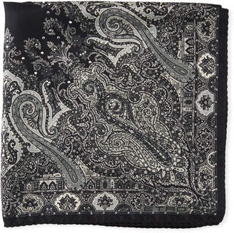 Etro Formal Paisley Studded Silk Pocket Square