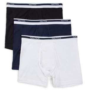Nautica Three-Pack Classic Boxer Briefs