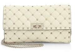 Valentino Rockstud Spike Leather Clutch