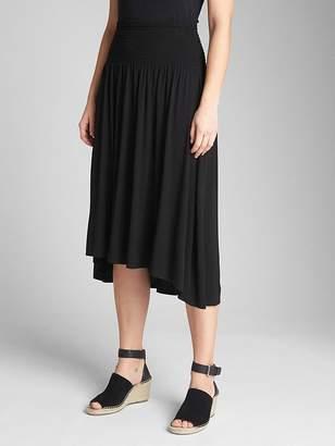 Gap Smocked Hi-Lo Midi Skirt