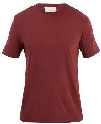 Solid & Striped Classic Cotton T Shirt - Mens - Burgundy
