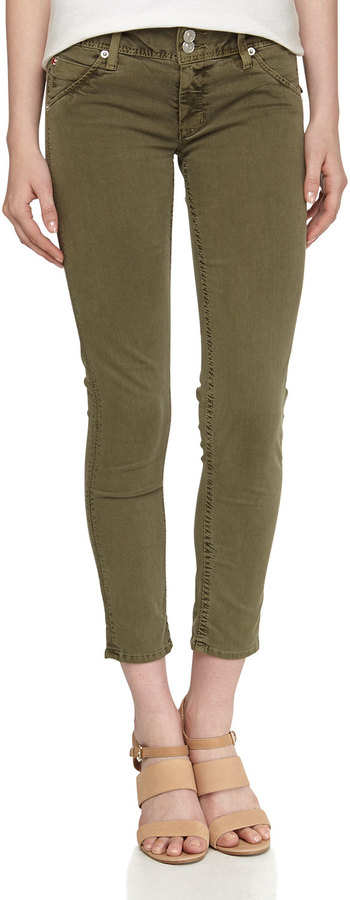 Hudson Collin Cropped Jeans, Olive