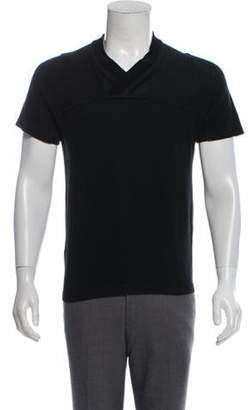 Kolor Short Sleeve Knit Sweater black Short Sleeve Knit Sweater