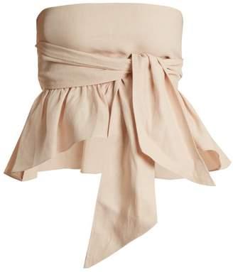 Apiece Apart Twyla Convertible Linen Blend Top - Womens - Nude