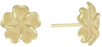 Together Silver & 9ct Bonded Gold Flower Stud Earrings