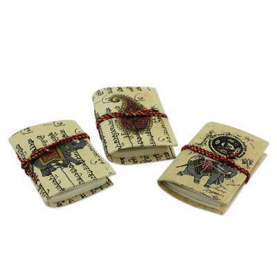 Jaipur Verses Handmade paper mini journals (Set of 3)