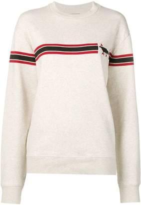MAISON KITSUNÉ stripe logo sweatshirt