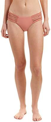 Robin Piccone Women's Sophia Crochet-Side Bikini Bottom