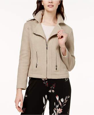 Alfani Textured Knit Moto Jacket, Created for Macy's