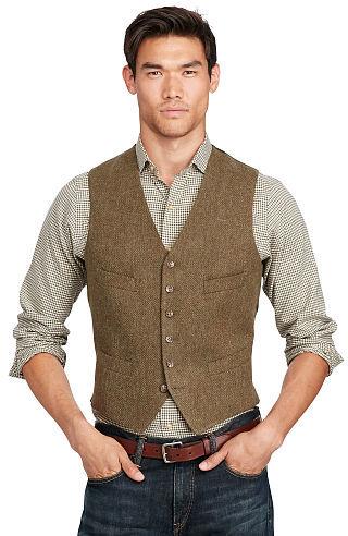 Polo Ralph LaurenPolo Ralph Lauren Tick-Weave Wool Vest