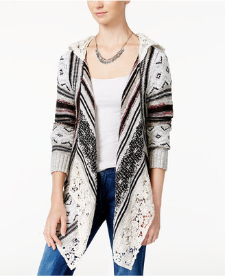 American Rag Crocheted Handkerchief-Hem Cardigan, Only at Macy's $69.50 thestylecure.com