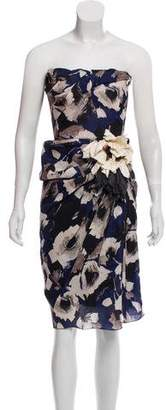 Lanvin Strapless Silk Dress