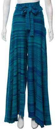 Baja East Stripe Wide-Leg Pants