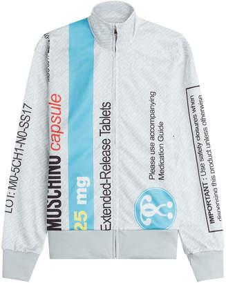 Moschino Printed Zip Front Sweatshirt