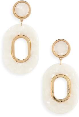 BP Resin Oval Drop Earrings