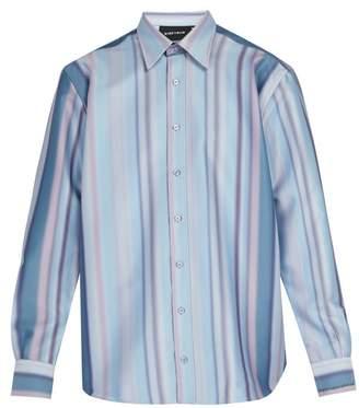 Ribeyron - Blurred Stripe Print Shirt - Mens - Multi