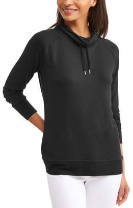 Faded Glory Women's Essential Athleisure Cowlneck Pullover