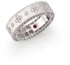 Roberto Coin Princess Diamond& 18K White Gold Band Ring