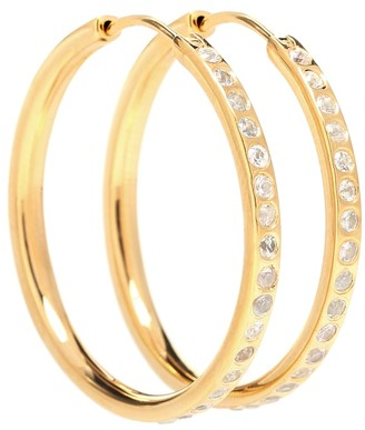 79f65ba17 Theodora Warre White sapphire pave hoop earrings