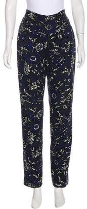 Versace Printed Mid-Rise Straight-Leg Jeans