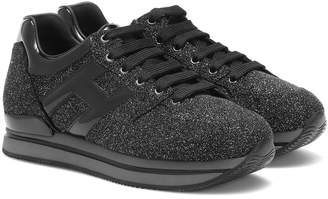 Hogan Glitter leather sneakers