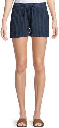 Allen Allen Drawstring Striped Cargo Shorts