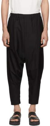 Issey Miyake Black Wool Poplin Trousers