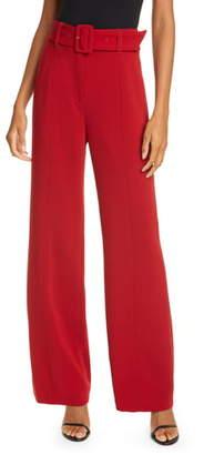 Cinq à Sept Eliza High Waist Belted Crepe Pants