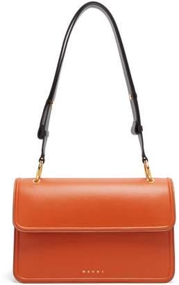 Marni Beat Colour Block Leather Shoulder Bag - Womens - Orange Multi