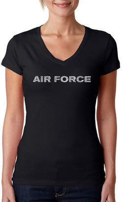 LOS ANGELES POP ART Los Angeles Pop Art Lyrics To The Air Force Song Graphic T-Shirt