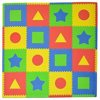 Tadpoles 16 Sq Ft First Shapes Playmat Set, Primary