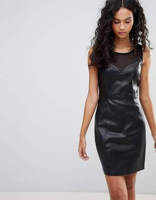 Only Kim Faux Leather Pencil Dress