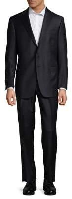 Hart Schaffner Marx Two-Button Black Wool Suit