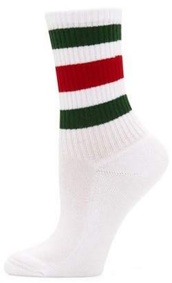 Gucci Little William Striped Web-Cuff Socks