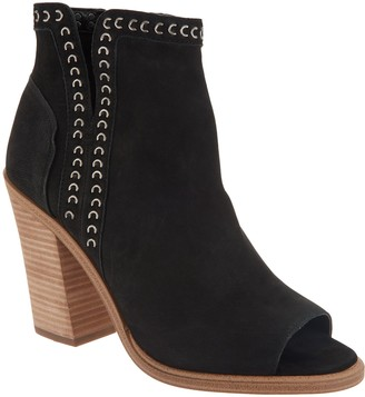 Vince Camuto Leather Peep-Toe Ankle Booties - Kemelly