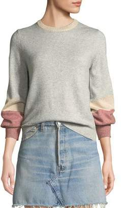 Cupcakes And Cashmere Greenville Bishop-Sleeve Crewneck Sweater