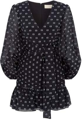 Keepsake The Label Call Me Puff Sleeve Polka Dot Dress
