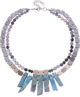Nakamol Design Metal & Stone Collar Necklace