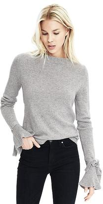 Italian Cashmere Blend Bow Cuff Pullover $78 thestylecure.com