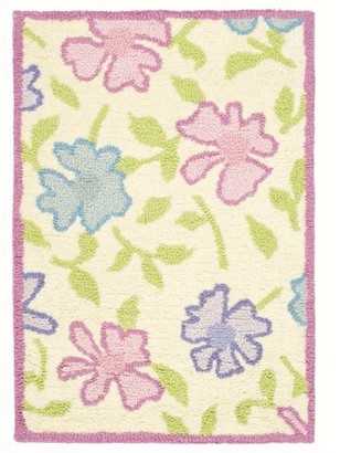 Safavieh Kids Floral Sandy Hand-Tufted Area Rug, Ivory/Pink