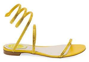 Rene Caovilla Women's Cleopatra Snake Wrap Flat Sandals