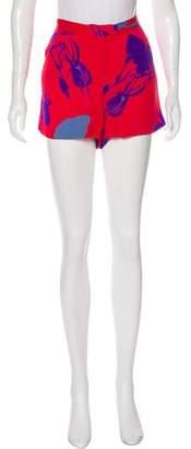 Tucker Mid-Rise Silk Shorts