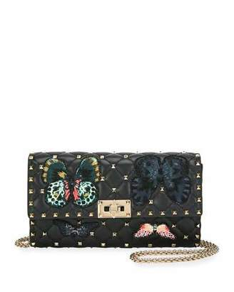Valentino Spike.It Butterfly Leather Crossbody Bag