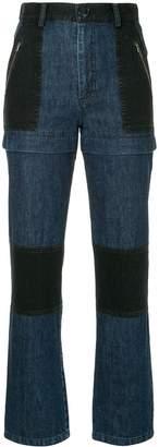 Sea colour block jeans
