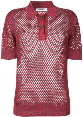 Jil Sander string polo shirt