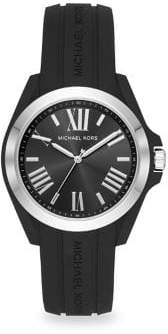 Michael Kors Bradshaw Stainless Steel Silicone Strap Watch