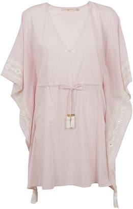 Tory Burch Tunic Style V-neck Shirt Dress
