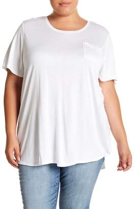 Joe Fresh Scoop Neck Boyfriend Tee (Plus Size)