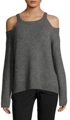 Saks Fifth Avenue RED Cold Shoulder High Neck Sweater