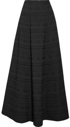 Alice + Olivia Lexia Pleated Jacquard Maxi Skirt